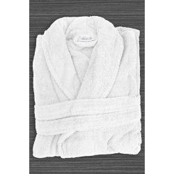 Fehér frottír köntös sálgalléros L méret szállodai minőség