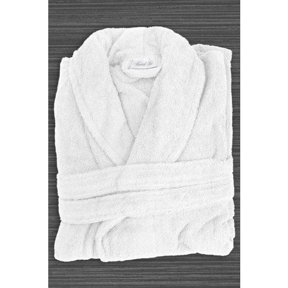 Fehér frottír köntös sálgalléros XL méret szállodai minőség