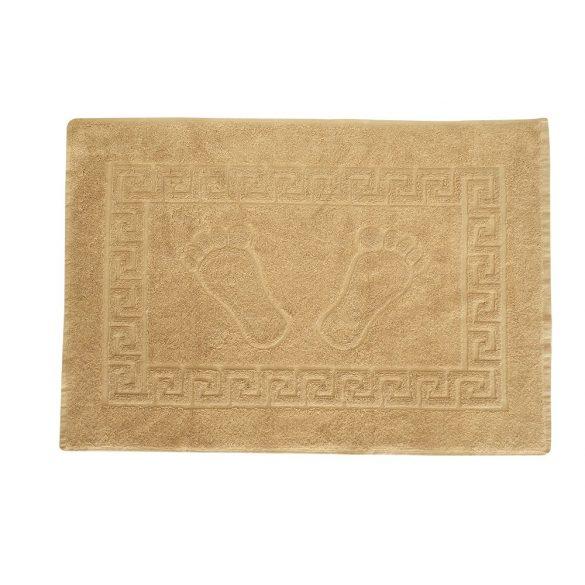 Színes frottír kádkilépő tappancsos drapp 50x70 cm