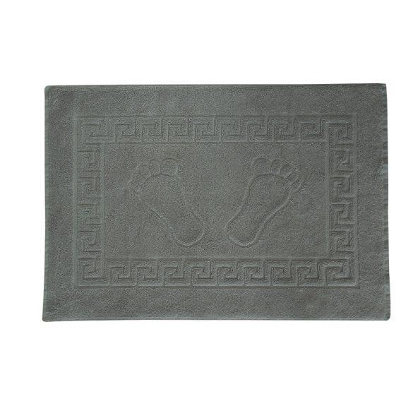 Színes frottír kádkilépő tappancsos középszürke 50x70 cm
