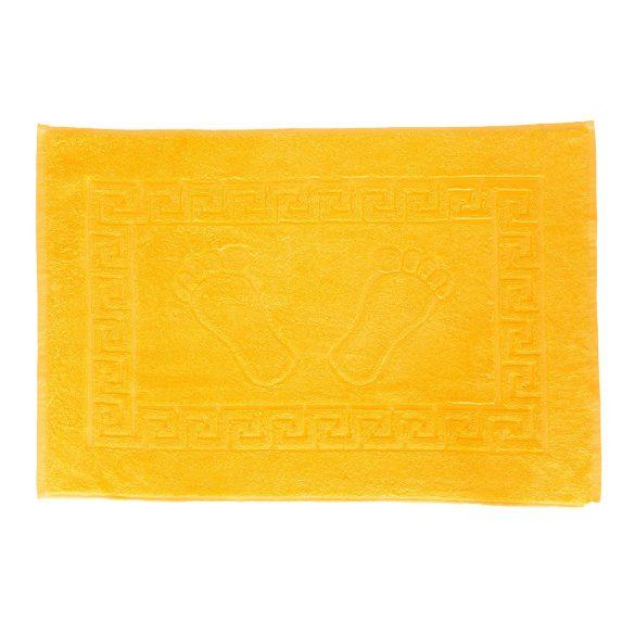 Színes frottír kádkilépő tappancsos napsárga 50x70 cm