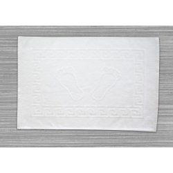 Frottír kádkilépő tappancsos görög mintás  fehér 50x70 cm