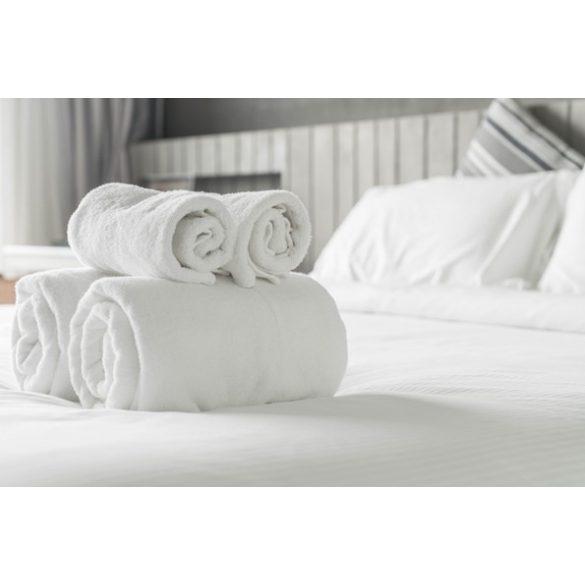Fehér Hotel Minőségű Frottír Törölköző, Kéztörlő, 30 x 50 cm, 400 g / m2