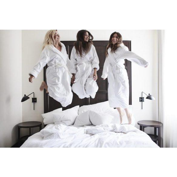 Fehér frottír köntös sálgalléros, XL méret szállodai minőség
