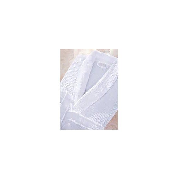 Fehér darázsmintás pamutköntös, 2XL méret