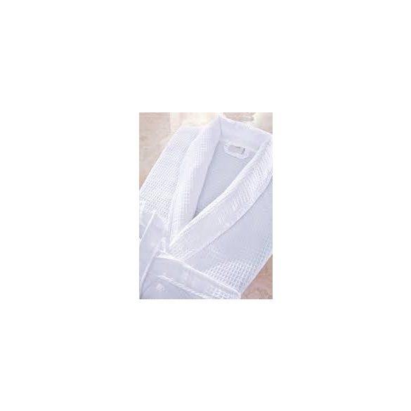 Fehér darázsmintás pamutköntös, XL méret