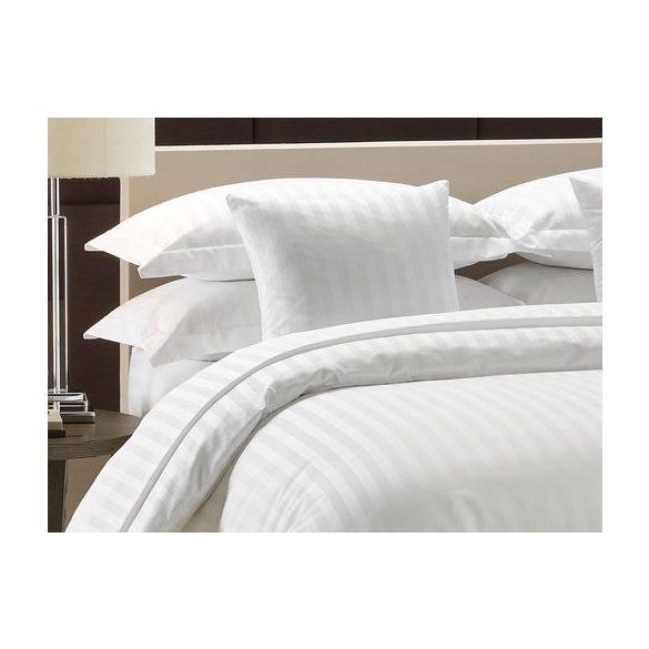 Szállodai fehér, 2 cm széles csíkozású ágynemű huzat szett