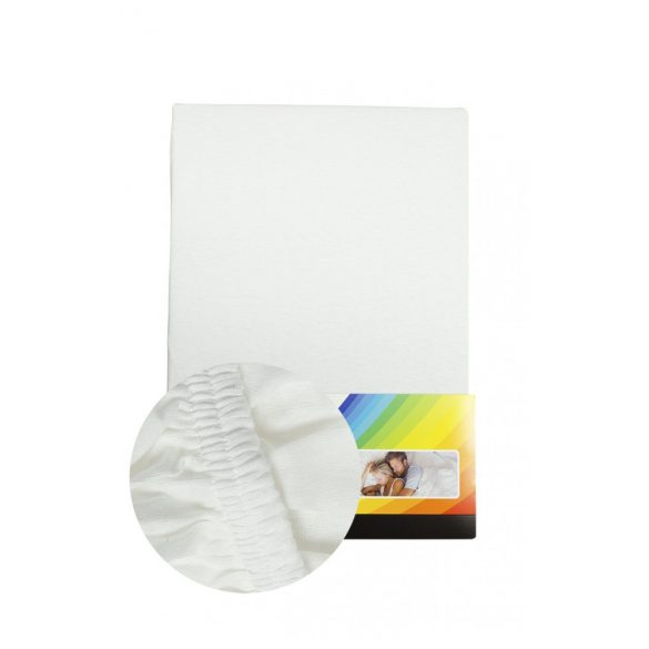 Fehér Gumis Lepedő, 180-200 cm x 200 cm