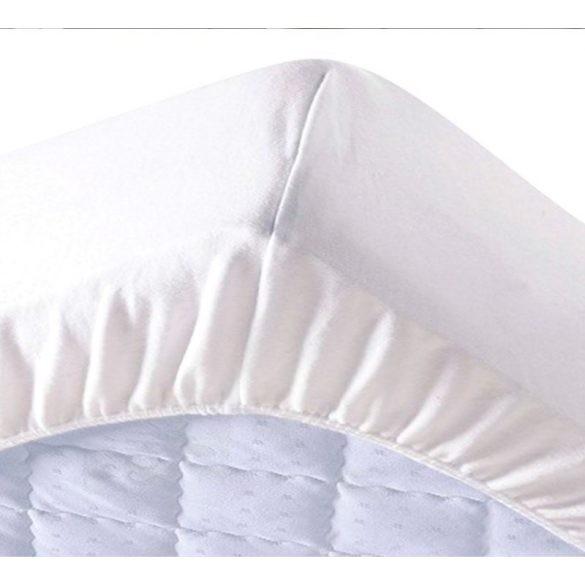 Fehér Gumis Lepedő, 90-100 cm x 200 cm