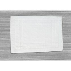 Frottír kádkilépő keretes mintás  fehér, 50 x 70 cm
