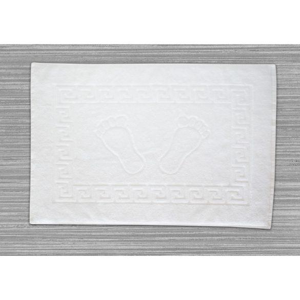 Frottír kádkilépő tappancsos görög mintás  fehér, 50 x 70 cm