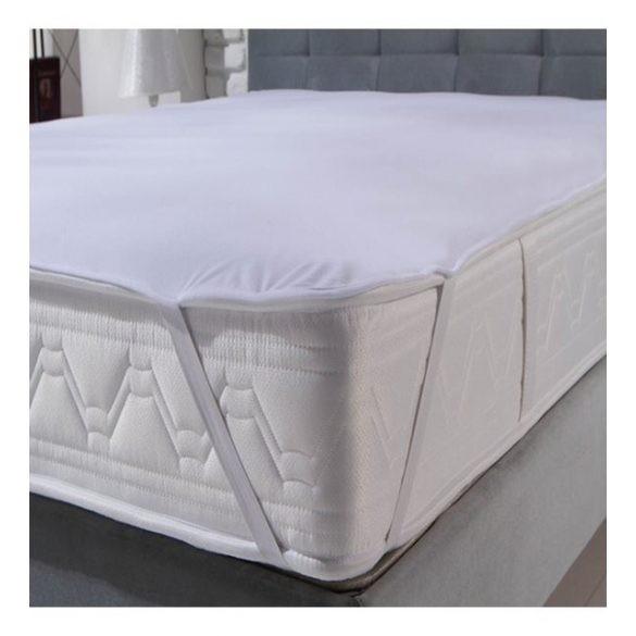 Pamut  jersey vízhatlan sarokgumis matracvédő, 160 x 200 cm, (szállodai és egészségügyi minőség)