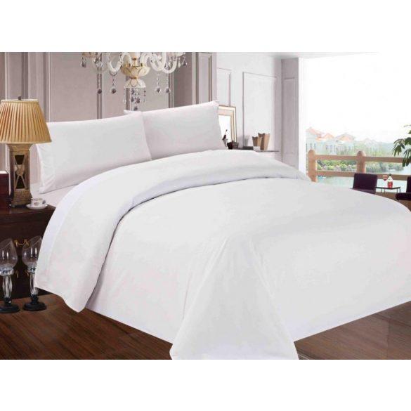 Szállodai sima fehér ágynemű szett